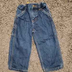 Carhartt Blue Jeans Size 2T with Adjustable Waist